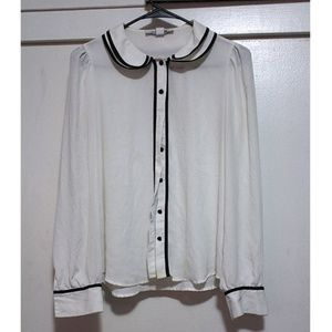 Forever 21 Collared Button Down Top
